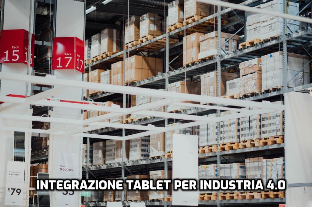 Industria 4.0 carrello elevatore tablet