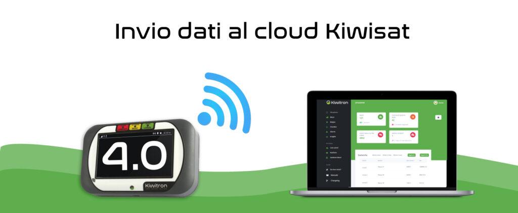 Kiwisat invio dati al cloud